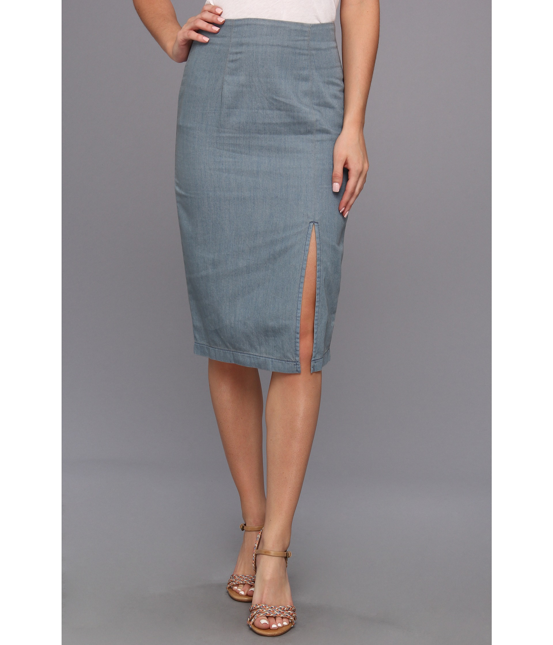 bcbgeneration high slit pencil skirt ejn3e616 clothing