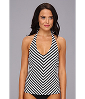 Vince Camuto - Deep Sea Nautical Halter Tankini w/ Removable Soft Cups