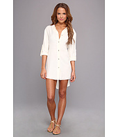 Vince Camuto - Pleating Waves Shirt Tail Dress Cover Up