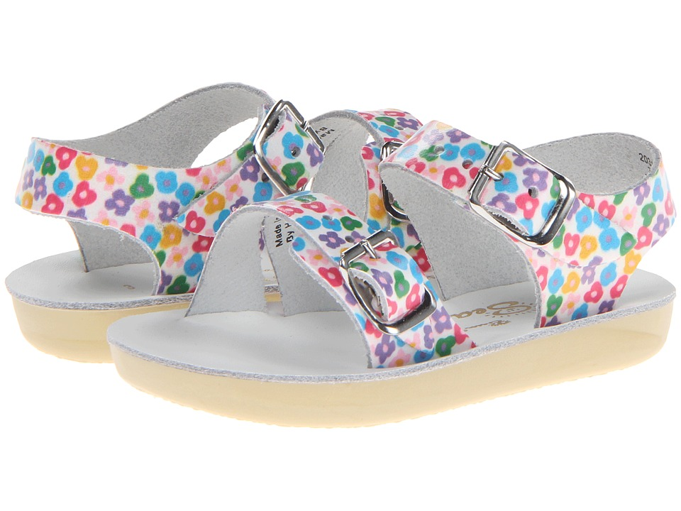 Salt Water Sandals Sun-San Sea Wees (Infant/Toddler) (Floral) Girls Shoes