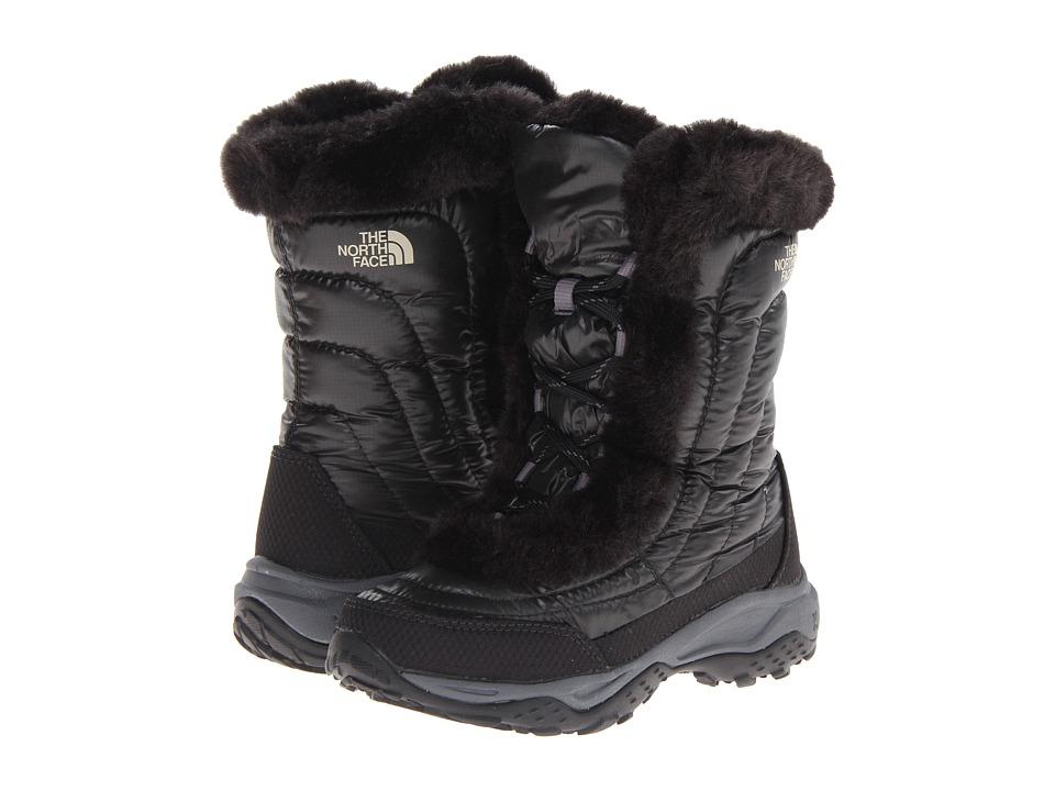 The North Face Kids - Nuptse Faux Fur II (Toddler/Little Kid/Big Kid) (Shiny Black/Black) Girls Shoes