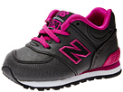 New Balance Kids 574 Infant, Toddler Black, Pink Shoes