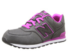 New Balance Kids 574 Big Kid Black, Pink Shoes