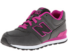 New Balance Kids 574 Little Kid Black, Pink Shoes