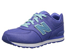 New Balance Kids KL574 Little Kid Purple, Aquamarine Shoes