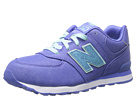 New Balance Kids KL574 Big Kid Purple, Aquamarine Shoes