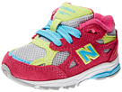New Balance Kids 990v3 Infant, Toddler Silver, Pink Shoes