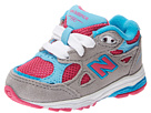New Balance Kids 990v3 Infant, Toddler Silver, Blue Shoes