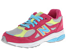 New Balance Kids 990v3 Little Kid Silver, Pink Shoes