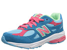 New Balance Kids 990v3 Little Kid Blue, Pink Shoes