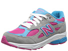 New Balance Kids 990v3 Little Kid Silver, Blue Shoes