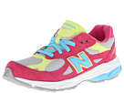 New Balance Kids 990v3 Big Kid Silver, Pink Shoes