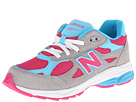 New Balance Kids 990v3 Big Kid Silver, Blue Shoes