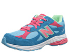 New Balance Kids 990v3 Big Kid Blue, Pink Shoes