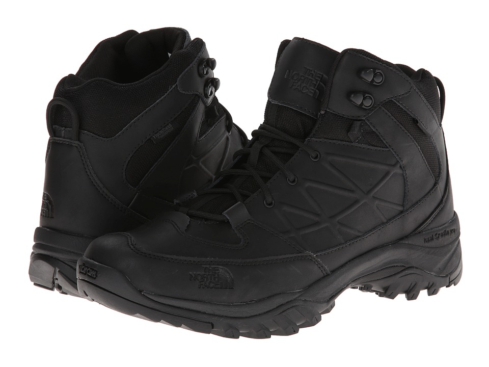 The North Face - Storm Mid WP Leather (TNF Black/TNF Black) Men