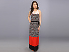 Donna Morgan - Sleeveless Keyhole CDC Maxi (Coral/Peach) - Apparel