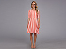 Donna Morgan - Wavy Knit Fit n' Flare (Coral/White)