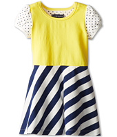 Toobydoo - Dress Stripe w/ Polka Dot Sleeve (Toddler/Little Kids/Big Kids)