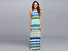 Donna Morgan - Column Maxi With Thin Straps (Blue/Green Multi)