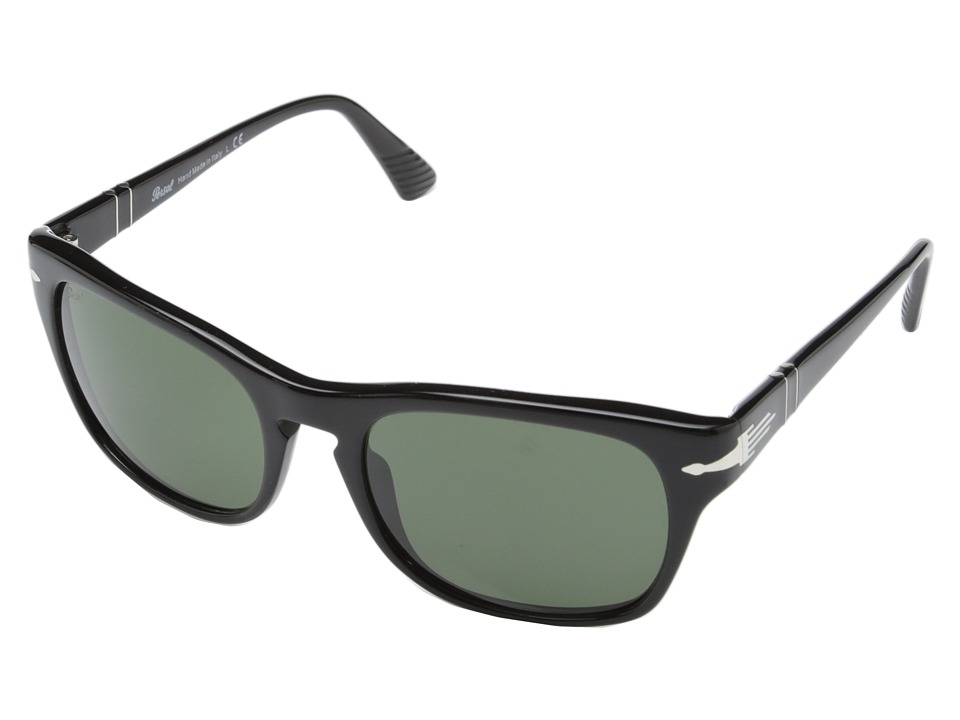 Persol 0PO3072S Black/Crystal Green Fashion Sunglasses
