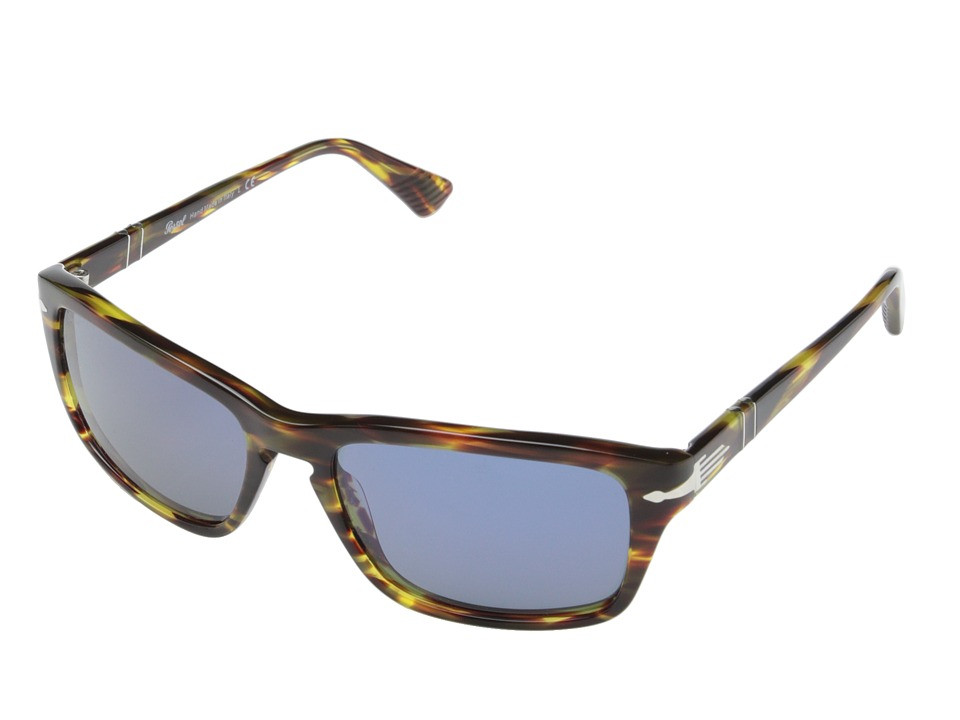 Persol 0PO3074S Striped Green/Blue Fashion Sunglasses