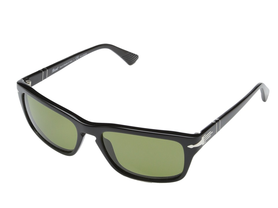 Persol 0PO3074S Black/Polarized Green Fashion Sunglasses