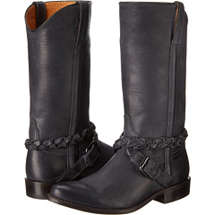 M4641 (Cross Braid Buckle Black) Cowboy Boots