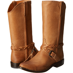 M4640 (Cross Braid Buckle Tan) Cowboy Boots