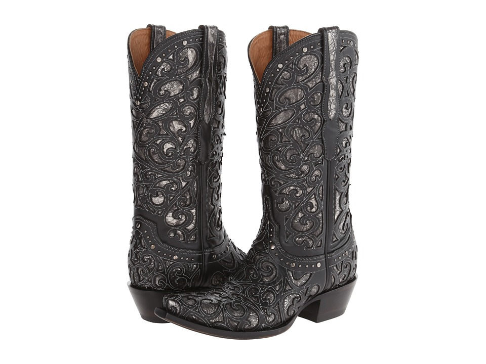 Lucchese M4842 (Black) Cowboy Boots