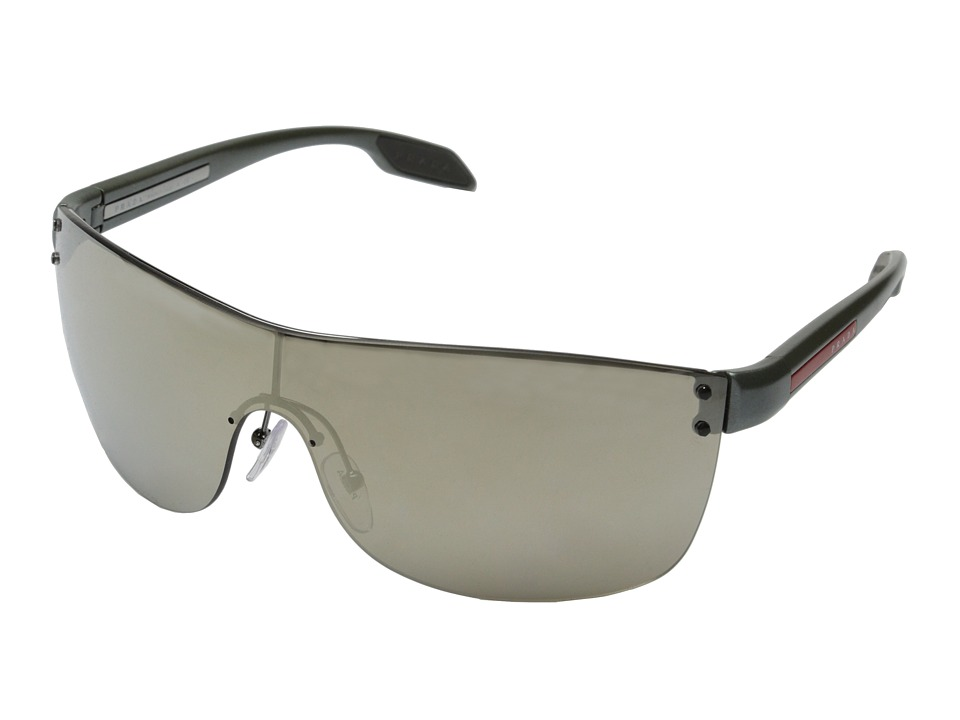 Prada Linea Rossa 0PS 54PS Gunmetal/Light Brown Mirror Fashion Sunglasses
