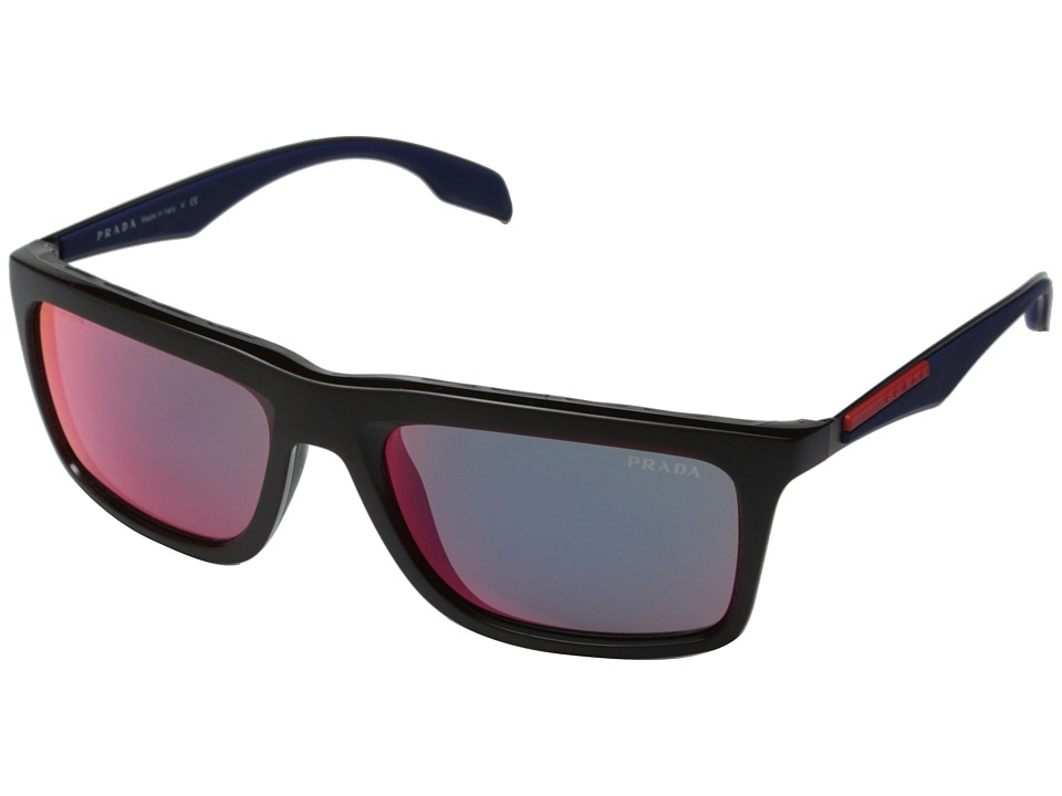 Prada Linea Rossa 0PS 02PS Red/Dark Grey Mirror Fashion Sunglasses