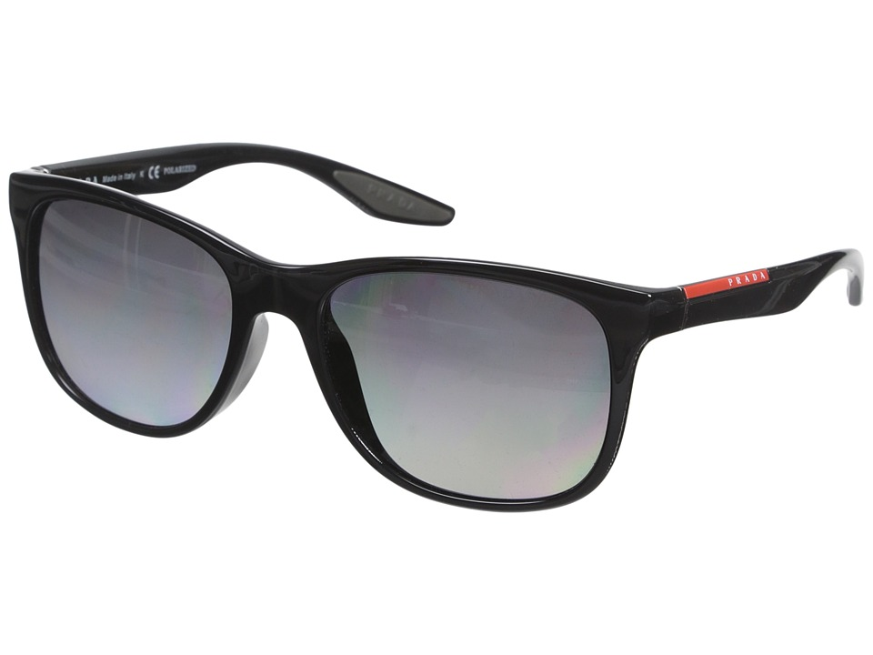 Prada Linea Rossa 0PS 03OS Black/Grey Polarized Fashion Sunglasses