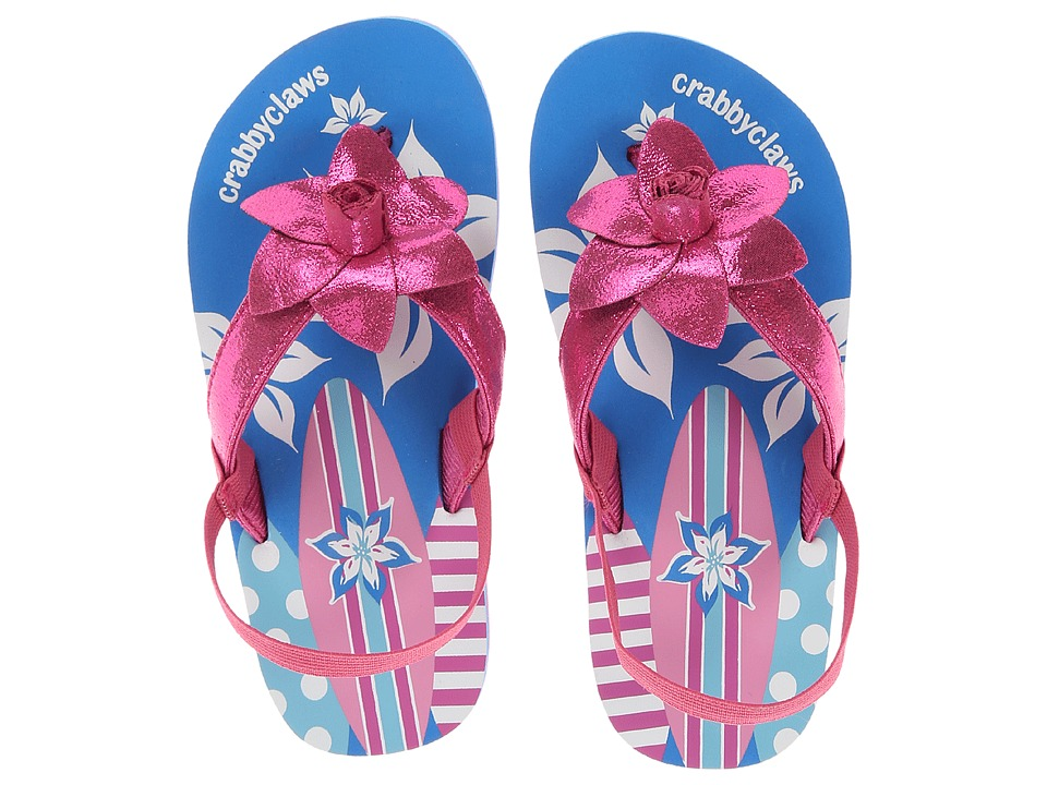 Crabbyclaws Surfboard Toddler/Little Kid/Big Kid Magenta Glitter Girls Shoes