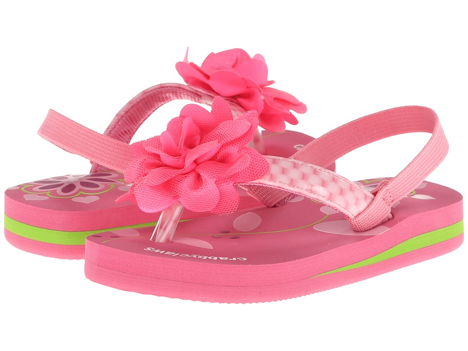 Crabbyclaws Flower Toddler/Little Kid/Big Kid Pink Patent Girls Shoes