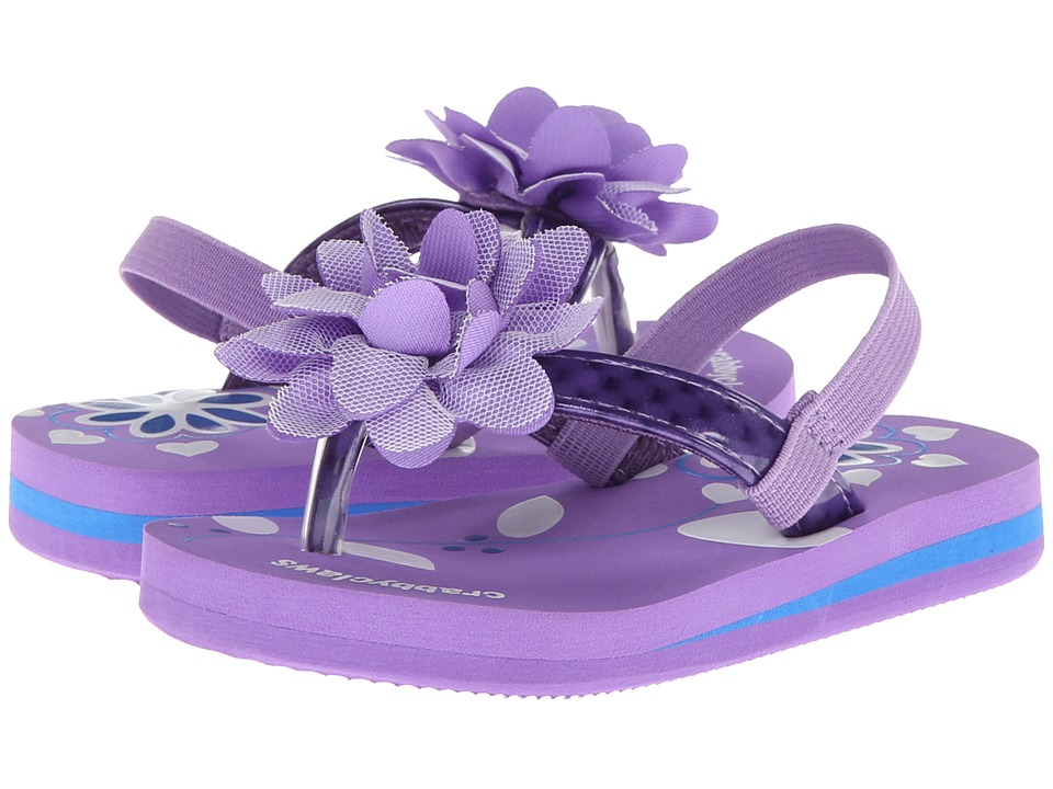Crabbyclaws Flower Toddler/Little Kid/Big Kid Purple Patent Girls Shoes