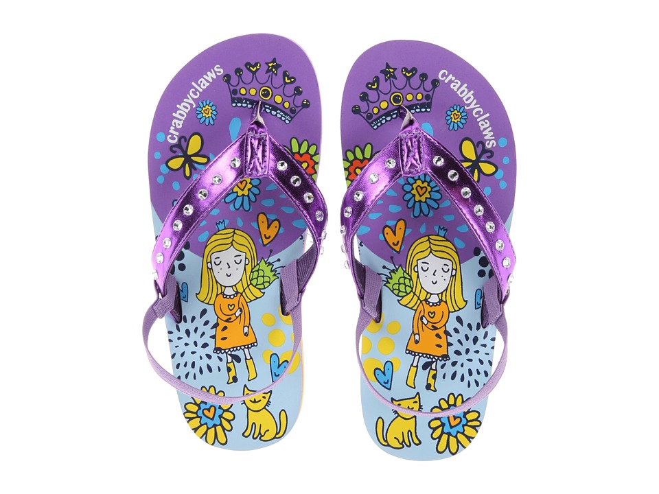 Crabbyclaws Princess Toddler/Little Kid/Big Kid Purple Metal Girls Shoes