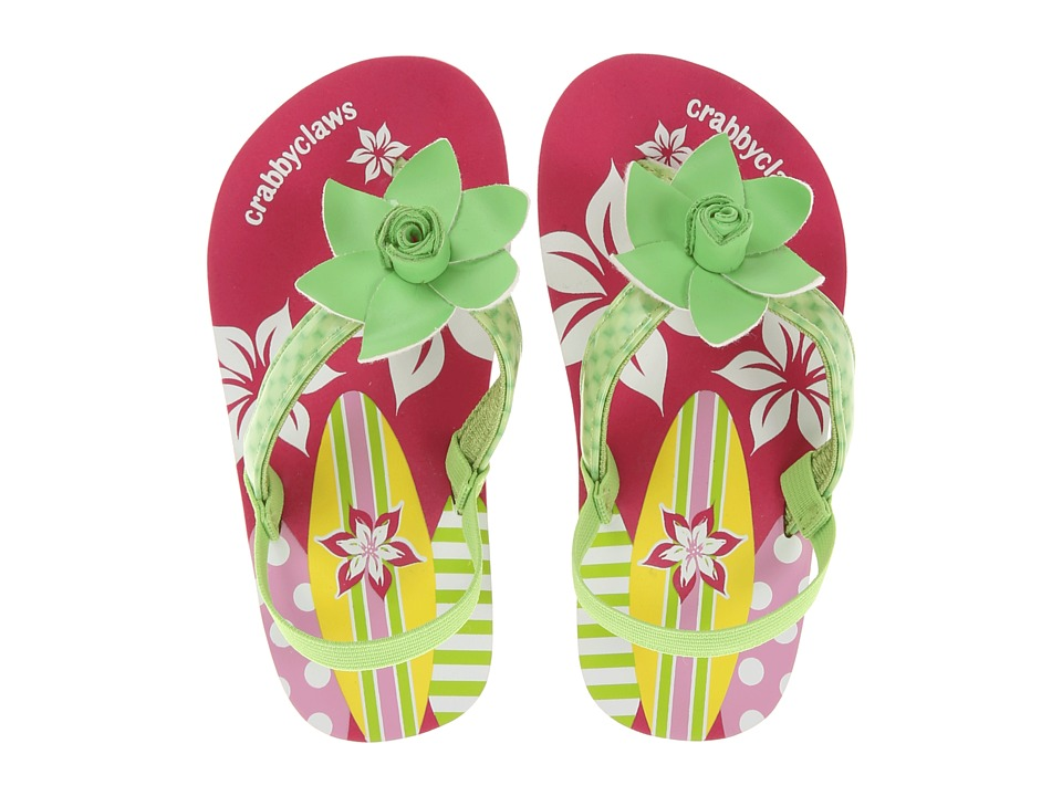 Crabbyclaws Surfboard Toddler/Little Kid/Big Kid Lime Patent Girls Shoes