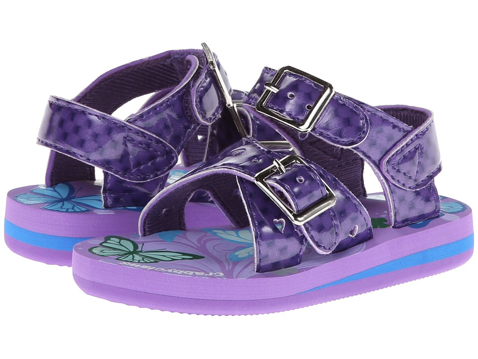 Crabbyclaws Butterfly Toddler/Little Kid/Big Kid Purple Patent Girls Shoes