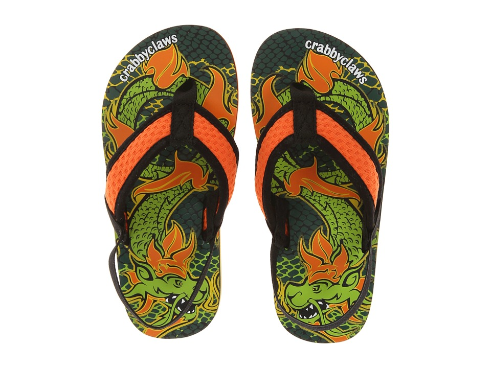 Crabbyclaws Dragon Toddler/Little Kid/Big Kid Orange/Black Boys Shoes