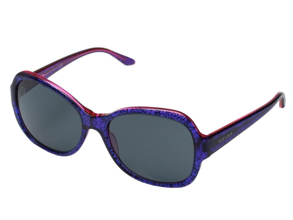 Versace VE4259 Baroque Blue/Grey Fashion Sunglasses