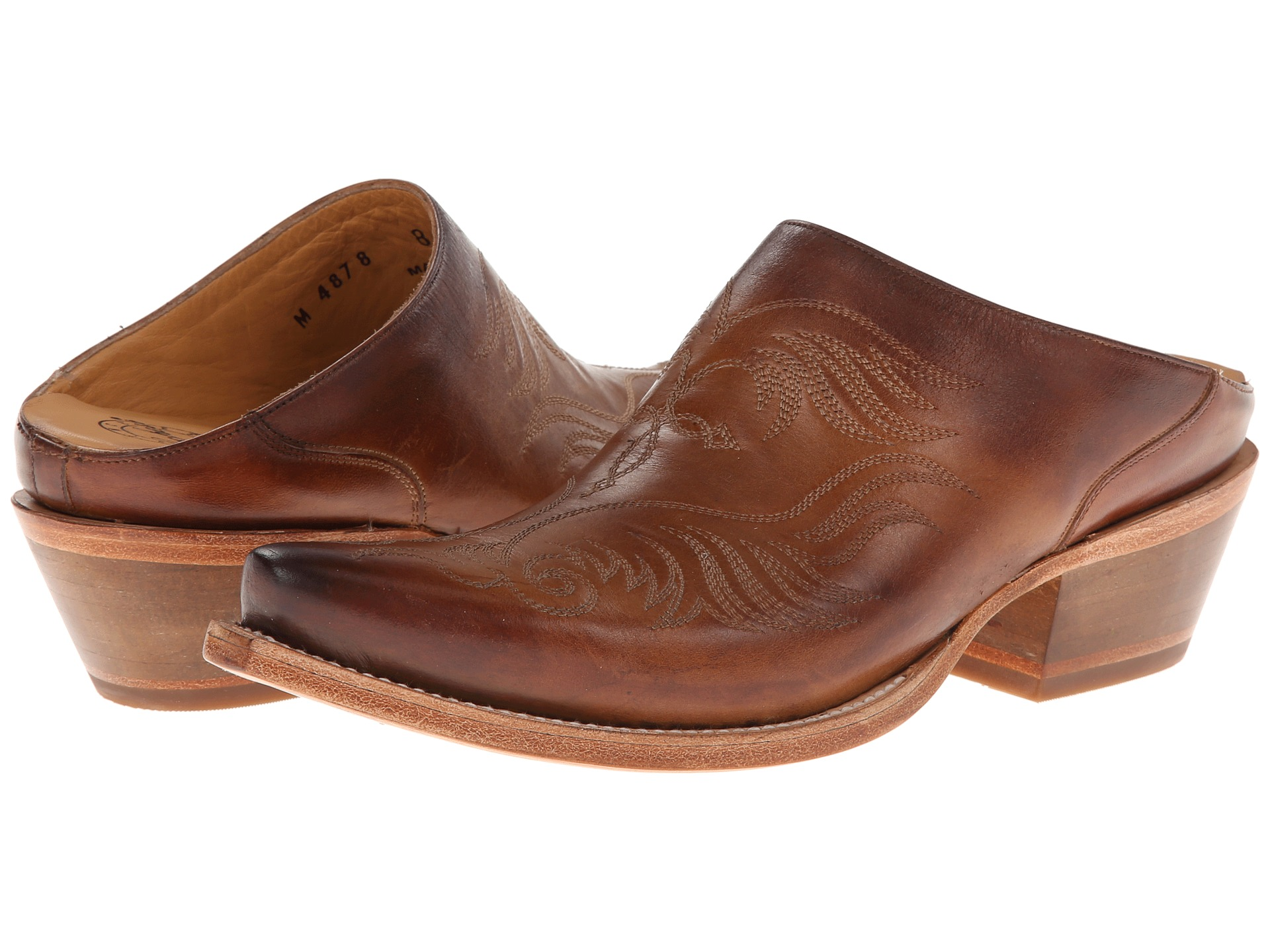 Lucchese M4878 Western Mule Whiskey - Zappos.com Free ...