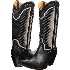 M4872 (Twisted Leather White/Black) Cowboy Boots
