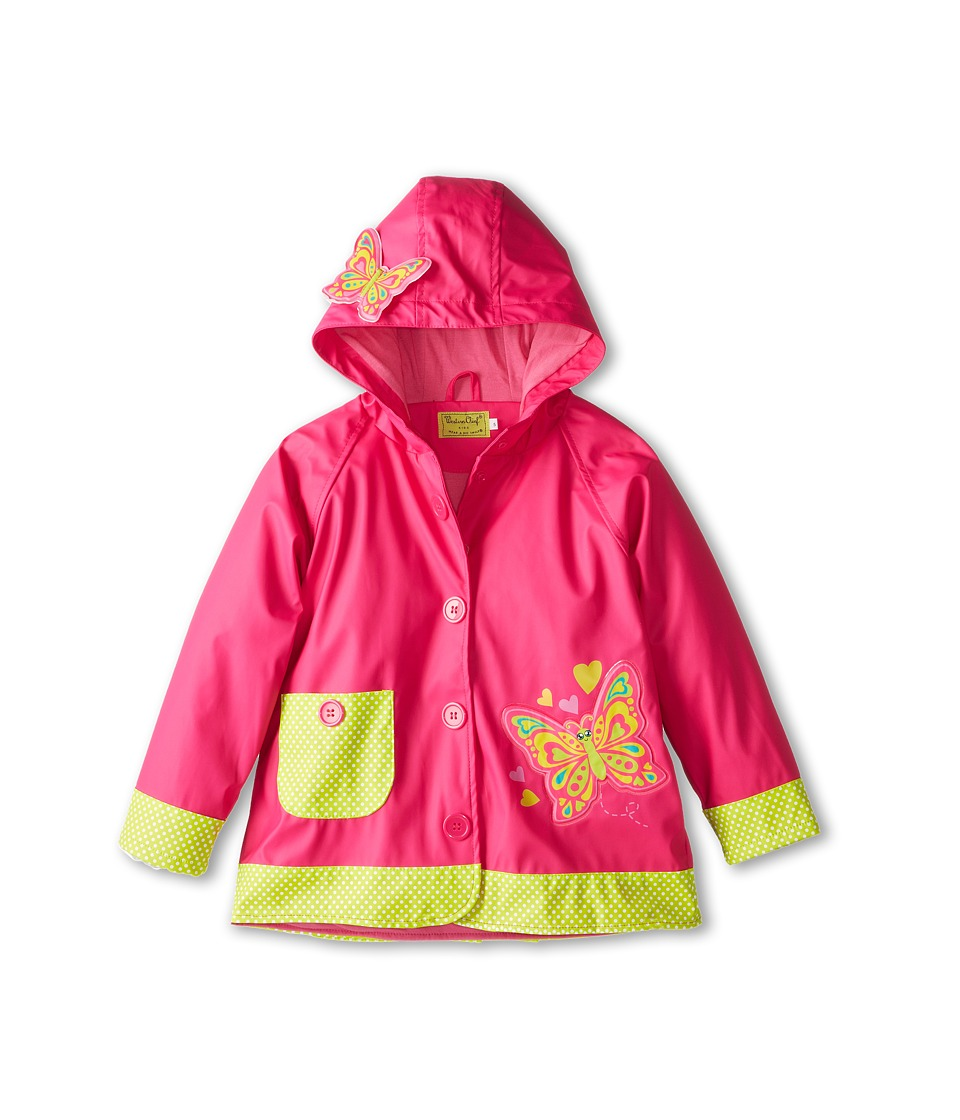 Western Chief Kids Butterfly Star Raincoat Toddler/Little Kids Pink Girls Coat