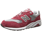 New Balance Classics MRT580 Burgundy Suede, Mesh Shoes