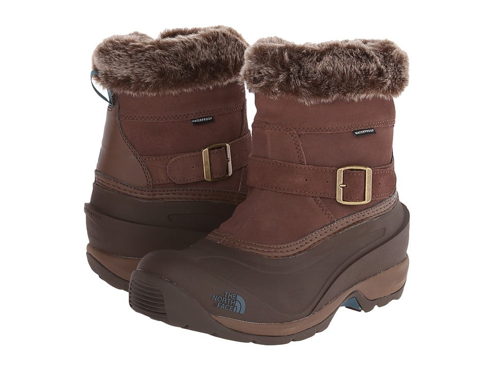 The North Face Chilkat III Pull-On (Rain Drum Brown/Mediterranea Green (Prior Season)) Women's Cold Weather Boots