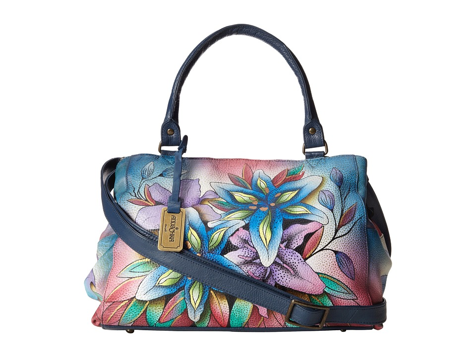 Anuschka Handbags - 528 (Lucious Lillies Denim) Handbags