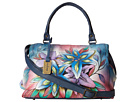 Anuschka Handbags - 528 (Lucious Lillies Denim)
