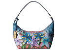 Anuschka Handbags - 510 (Lucious Lillies Denim)