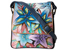 Anuschka Handbags - 483 (Lucious Lillies Denim) - Bags and Luggage