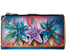 Anuschka Handbags - 1114 (Luscious Lilies Denim) - Bags and Luggage